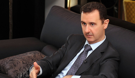 Syrian President Assad gives an interview to Turkish newspaper Cumhuriyet