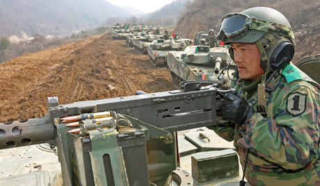 South Korean during military exercise