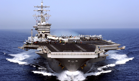 US aircraft carrier USS Dwight D. Eisenhower