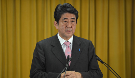 Liberal Democratic Party (LDP) President Shinzo Abe
