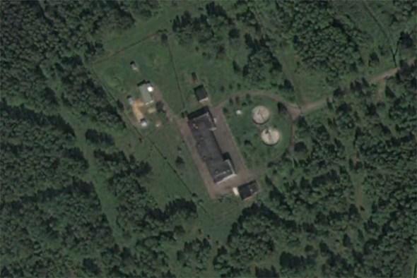 Foto satelital del un sitio que podría ser la estación UVB-76