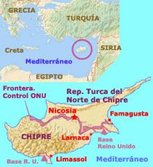 Chipre divida em norte e Sul