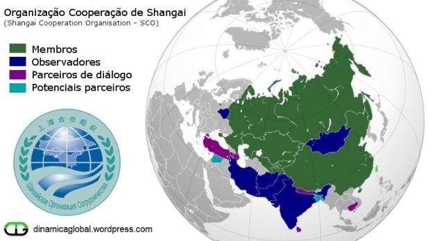 OSC é uma organização econômica, política e de segurança mútua. Clique na imagem para ampliar [res. 777 × 437].