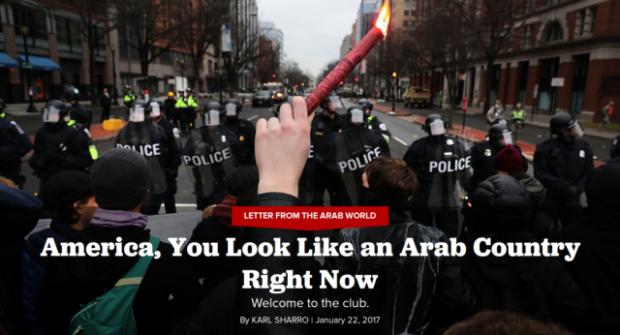 América, você é vista como um país árabe agora.
