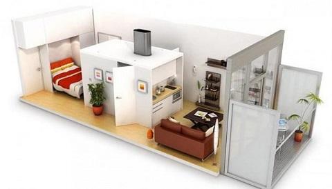Projeto de micro apartamento. Fonte: dicas de arquitetura