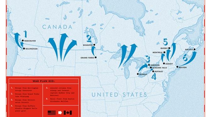 Como o Canadá planejava invadir os EUA (e vice-versa).