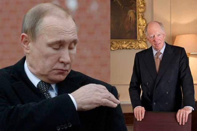 Putin proibiu Rothschild e sua nova família de cartéis bancários da ordem mundial de entrar no território russo.