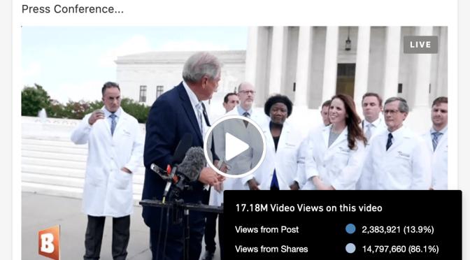 Facebook, Google/YouTube, Twitter censuram vídeo da conferência de imprensa dos médicos revelando a CURA do Covid-19 em Capitol Hill/EUA. [Veja o vídeo].