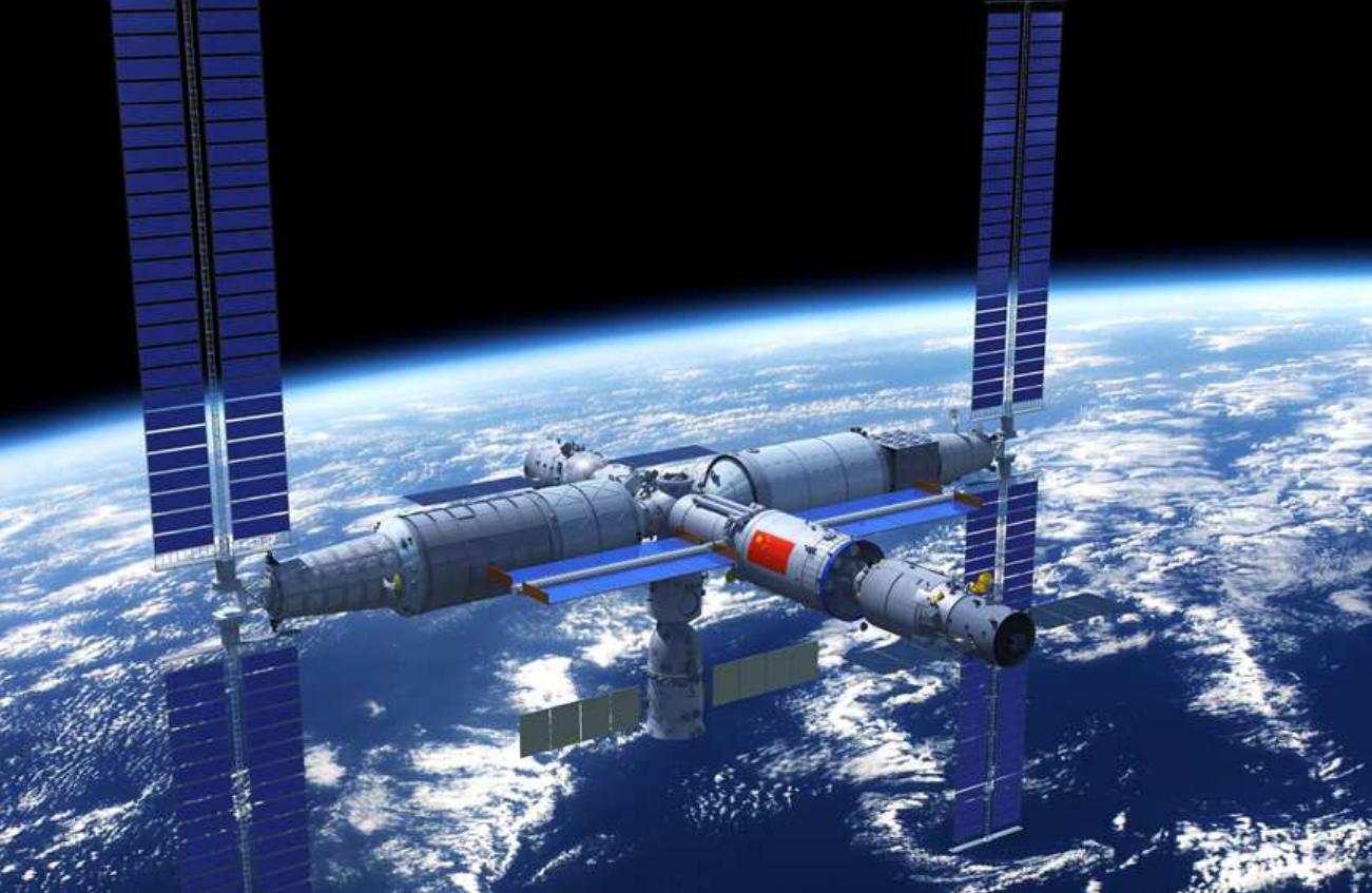 Após proibição na ISS, China envia a primeira tripulação para a sua nova Estação Espacial Tiangong.