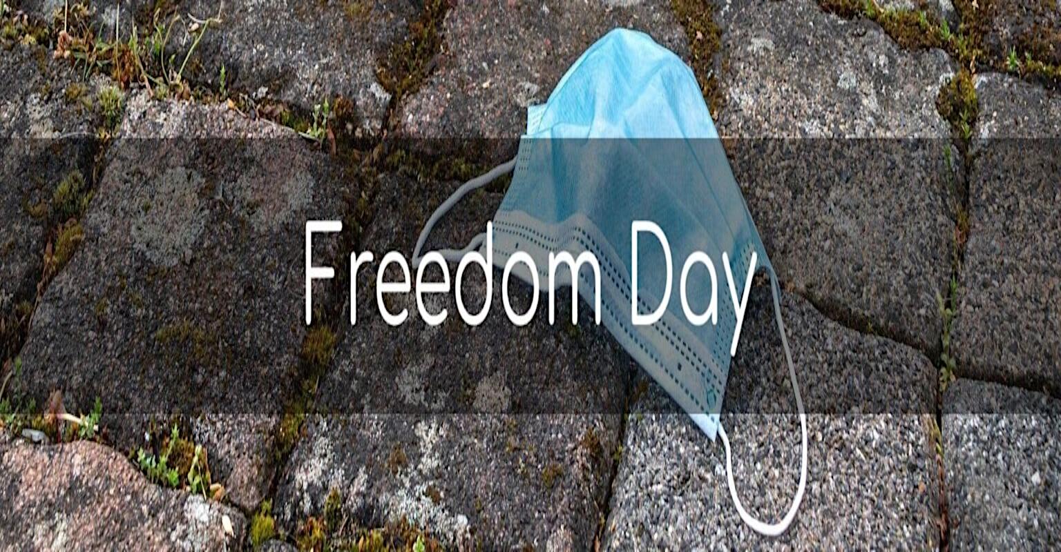 """Refletir: Chega o """"Dia da Liberdade"""". """"O Reino Unido está reabrindo""""?"""